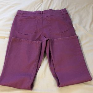 Woman Within Purple/Pink Denim Jeans